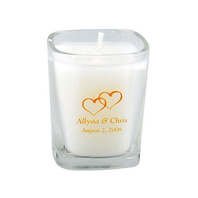 Customized 25 Oz Square Clear Glass Candle