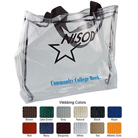Customized 19Ga Clear Vinyl Tall Tote Bag