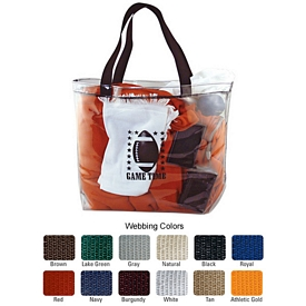 Promotional Usa Clear Vinyl Stadium Tote Bag