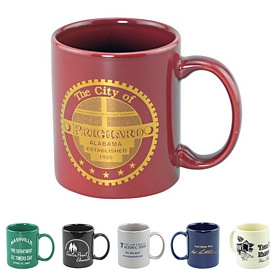 Promotional 11 Oz Economy Colored Ceramic Mug