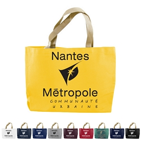 Promotional 10 Oz Colored Canvas Gusset Tote Bag