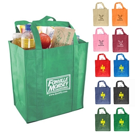 Promotional Eco-Friendly Nonwoven Grocery Tote
