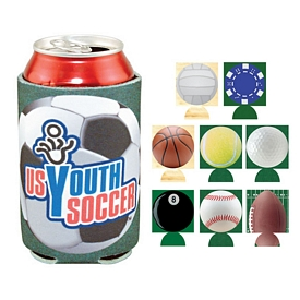 Customized Full Color Sports Coolie Can Cooler