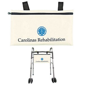 Customized Medical Walker Natural Canvas Accessory Bag