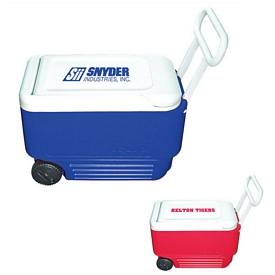 Promotional Usa Made Red Igloo Wheelie Cooler