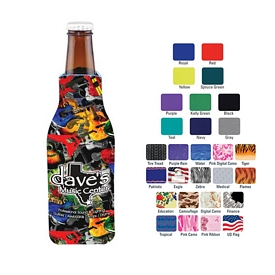 Promotional Full Color Zipper Jacket Bottle Cooler