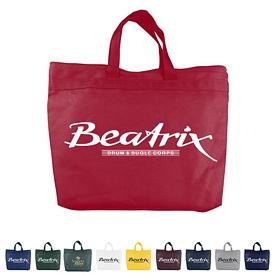 Promotional 10 Oz Colored Canvas Zippered Tote Bags