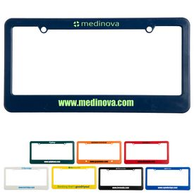 Customized License Plate Frame 2 Holes With Straight Bottom
