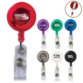 Promotional Round Secure-A-Badge Holder