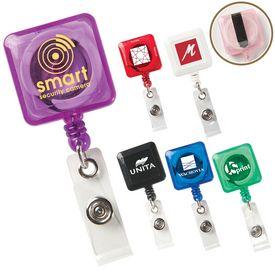 Promotional Square Secure-A-Badge Holder