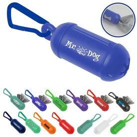 Custom Doggy Bag Dispenser With Carabiner