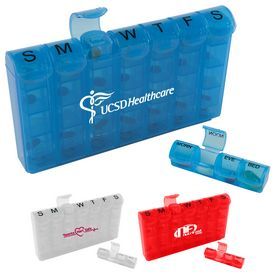 Customized 28 Compartment Medical Pill Case