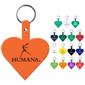 Promotional Heart Flexible Key Fob
