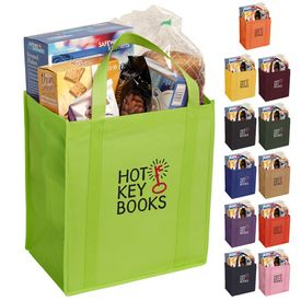 Customized 13X12X8 Non-Woven Polypropylene Grocery Tote