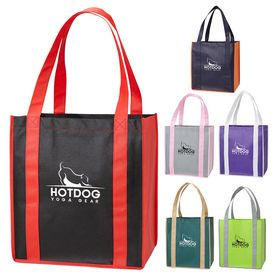 Promotional Color Combination Non-Woven Grocery Tote Bag