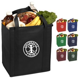 Promotional Insulated Large 15X13X10 Non-Woven Grocery Tote