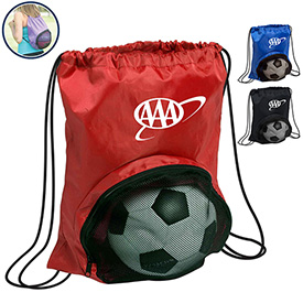 Promotional 210D Nylon Striker Drawstring Backpack