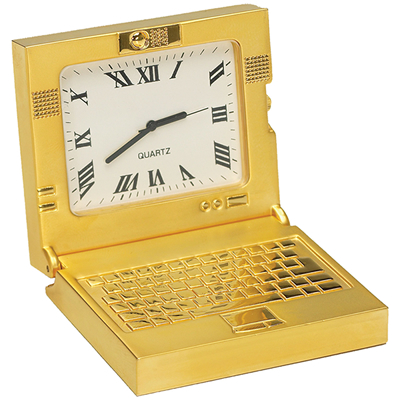 Custom Die Cast Laptop Clock