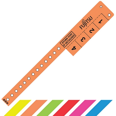 Customized 4 Tabs Vinyl Event Entry Wristband