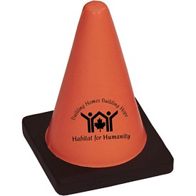 Custom Construction Cone Stress Reliever Stressballs