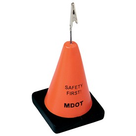Custom Construction Cone Stress Reliever Memo Holder