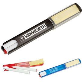 Promotional Dual Pens with Case and Sticky Notes