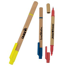 Promotional Eco Paper Barrel Highlighter Pen