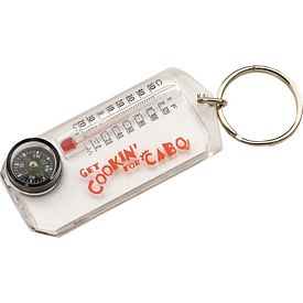 Promotional Handi Compass Thermometer Key Chain