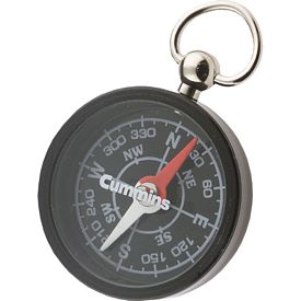 Promotional Black Round Pocket Compass