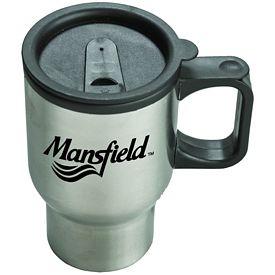 Promotional 16 oz. Stainless Steel Sculptured Travel Mug