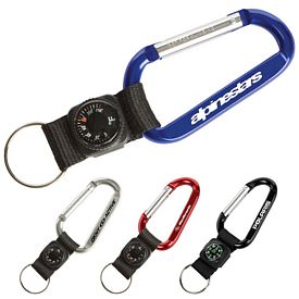Promotional Thermometer Key Tag Carabiner