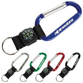 Promotional Compass Key Tag Carabiner