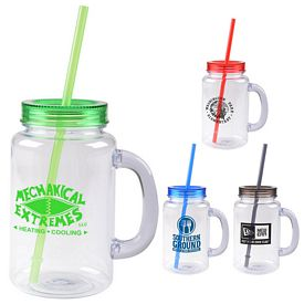 Promotional 20 Oz Mason Jar 2 Go Mug