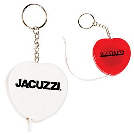 Custom Heart Tape Measure Key Tag Chain