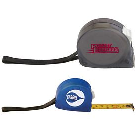 Promotional Zippy Tape Measure With Lock, Clip and Strap