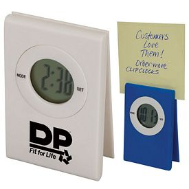 Promotional Memo Holder Clip Clock