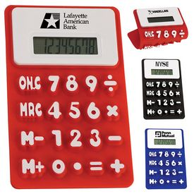 Promotional Easy Read Flexible Calculator