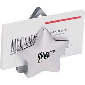 Promotional Silver Metal Star Cardholder