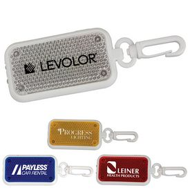 Promotional Rectangle Flasher Light Carabiner