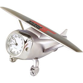 Promotional Die Cast Airplane Clock