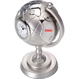 Promotional Die Cast Globe and Stand Clock