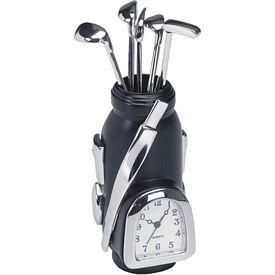 Promotional Metal Golf Bag Clock