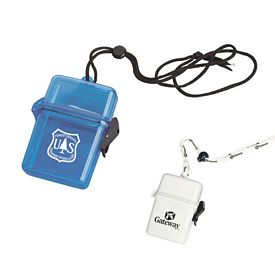 Promotional Plastic Container with Lanyard
