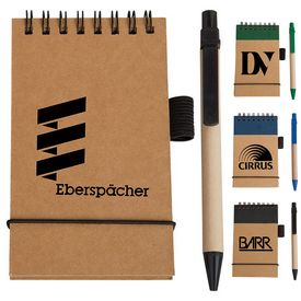 Promotional Eco Paper Barrel Pen Pocket Jotter