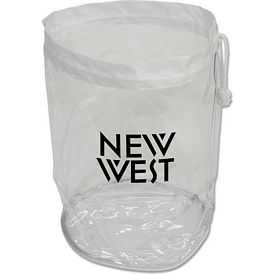 Customized Large Clear Drawstring Bag