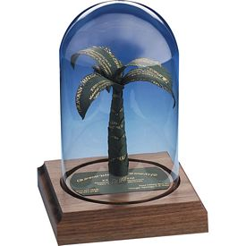 Customized Palm Tree Business Card Award