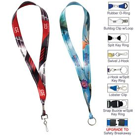 Promotional 7-8 Full Color Satin Lanyard