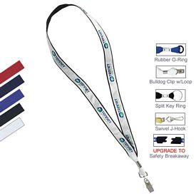 Promotional 3-4 Polyester Web With Sublimated Satin Lanyard