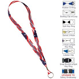 Custom 5-8 Full Color Polyester Ribbon Lanyard