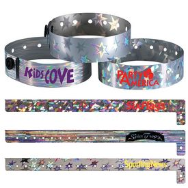 Custom Holographic Metallic Party Access Wristband